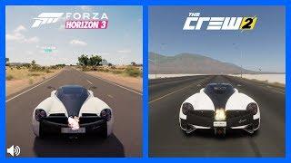 The Crew 2 Vs Forza Horizon 3 Pagani Huayra Sound Comparison