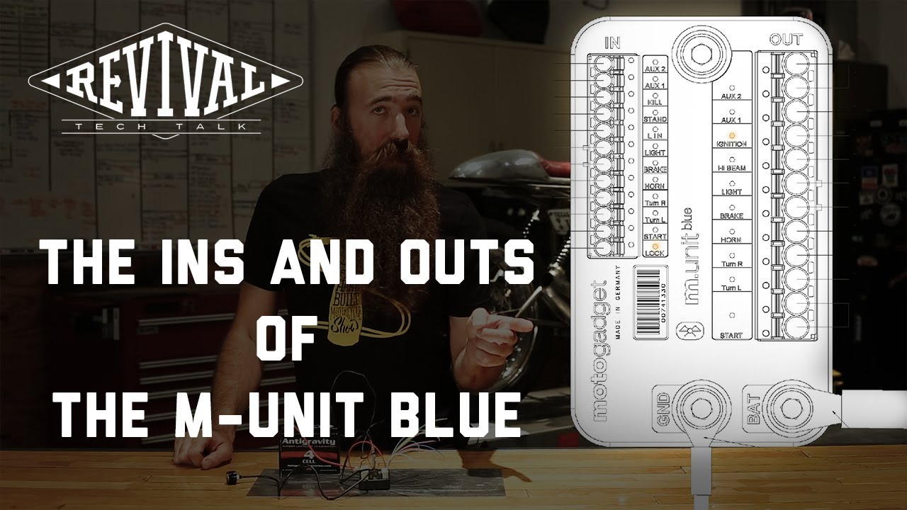 Revival Cycles Tech Talk The Ins And Outs Of Motogadget M Honda Cx500 Wiring Diagram Unit Blue