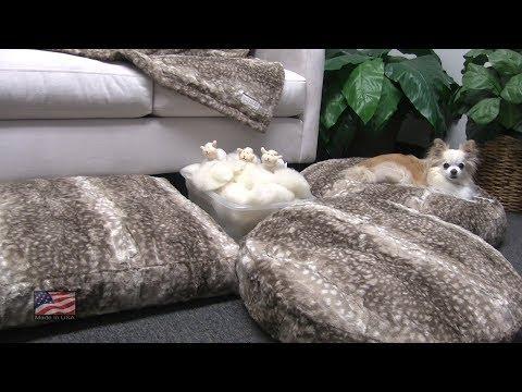 Peluche Plush Cuddle Cloud Bambi Dog Beds