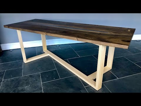 Epoxy Resin English Walnut / Chestnut Dining Table No.1