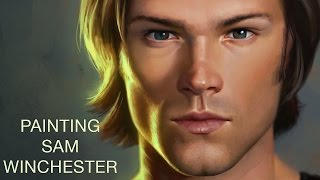 Painting Sam Winchester