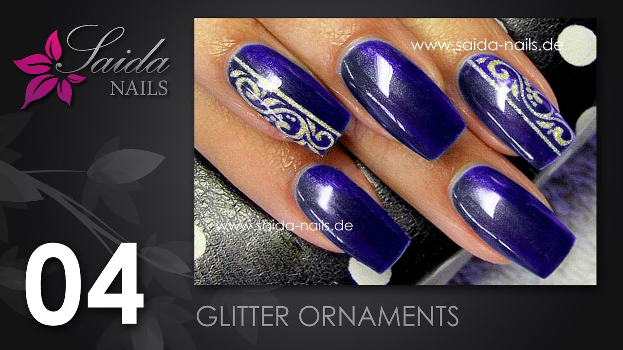 Nail Art Glitter Ornaments (Nailart leicht gemalt | Saida Nails ...
