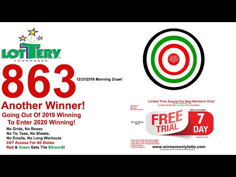 Tennessee Lottery Winner 863 A Red Play Winner!