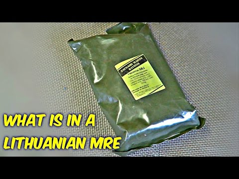 Tasting Lithuanian Military MRE (Meal Ready to Eat)