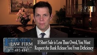 Foreclosure Lawyer - What To Do If Short Sale Offer Is Less Than Owed For House In Foreclosure