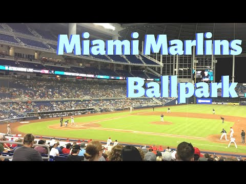 My Very First Time At Miami Marlins Ballpark, Miami Florida