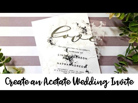 Learn How to Make a Clear Wedding Invitation