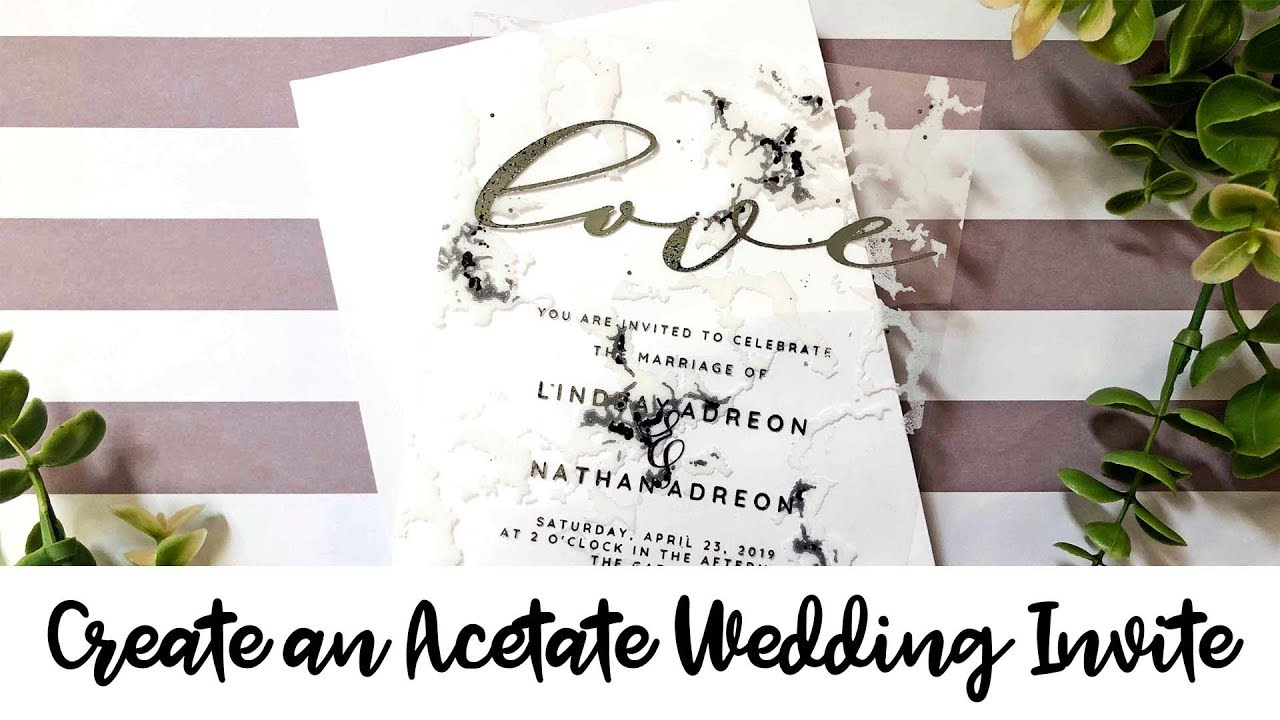 Clear Wedding Invitations: Learn How To Make A Clear Wedding Invitation