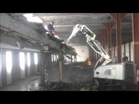 Interior demolition using Alpine RDC22.20 remote controlled demolition machine