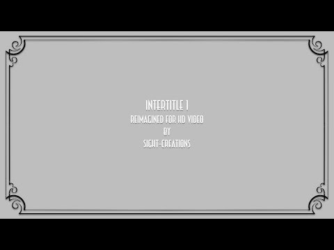 Intertitle 1 — A Final Cut Pro X generator (silent movie screen template)