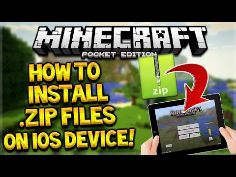 MCPE HOW TO INSTALL ANY .ZIP FILE ON iOS DEVICES FOR Minecraft Pocket Edition (No Jailbreak/PC)