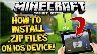 МАЙНКРАФТ ЯК ВСТАНОВИТИ БУДЬ .Zip файл на пристроях iOS для Minecraft кишеньковому виданні (без джейлбрейка/ПК)