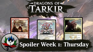 Dragons of Tarkir Spoilers: Dragonlord Dromoka, Atarka's Command, Zurgo Bellstriker, and more!