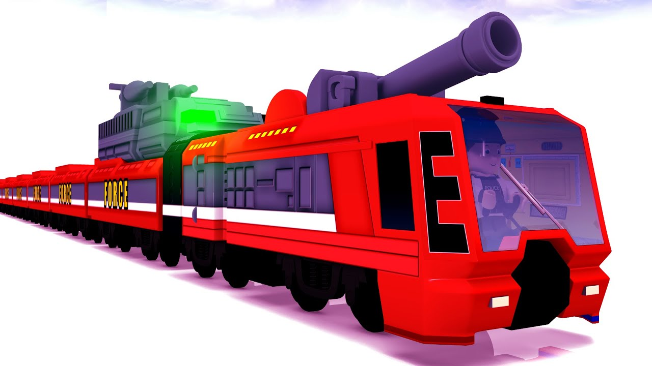 Instant Justice - American Cartoon Police Force Saving People from Thieves ~ Red Train Toy Factory