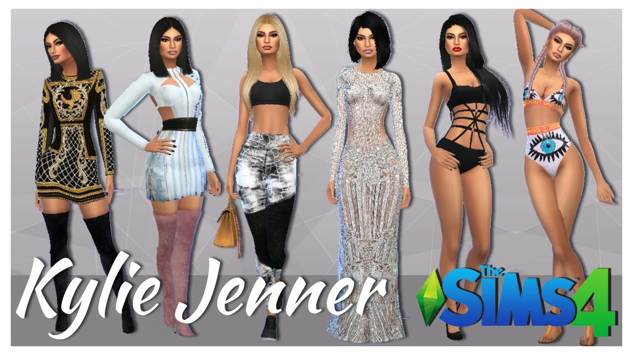 the sims 4 especial 1000 subs lookbook kylie jenner