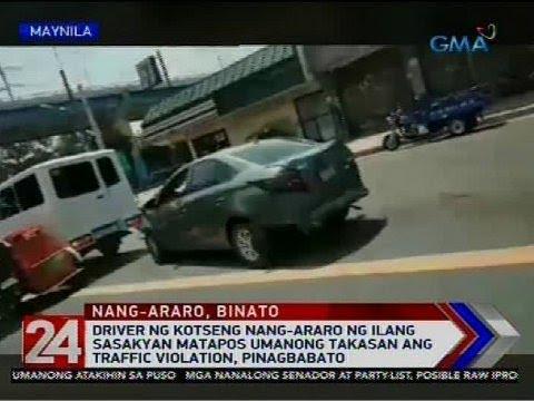 24 Oras: Driver ng kotseng nang-araro ng ilang sasakyan matapos umanong takasan...