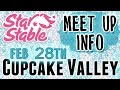Star Stable Cupcake Valley Meet Up Info February 28th