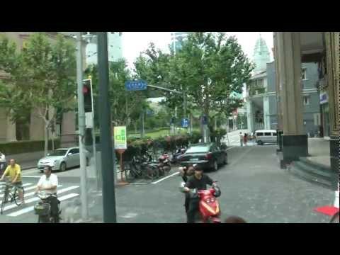 Driving through Downtown Shanghai