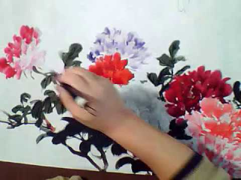 How to Paint the Flower in Process by Chinese Brush Paintings