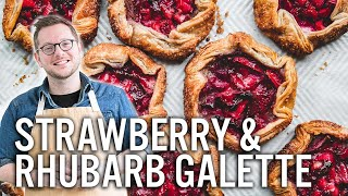 Mastering Pie Dough - Strawberry & Rhubarb Galettes - The Boy Who Bakes