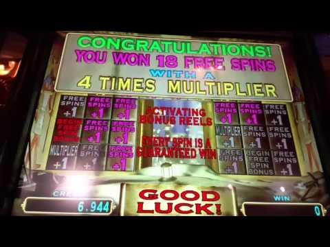 **BIG BIG WINS**  PHARAOH'S FORTUNE Slot Machine Bonus