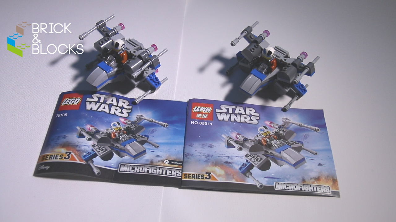 Lego Vs Lepin Comparison 75125 Resistance X Wing Fighter Youtube 75102 Star Wars Poeamp039s