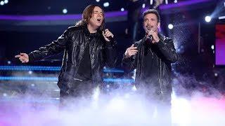 Raúl Pérez y Jordi Sánchez de OBK cantan 'El cielo no entiende' - Tu Cara Me Suena