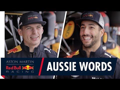 Sharks, Lamingtons and Neighbours? | Daniel Ricciardo and Max Verstappen play Australian Word Games