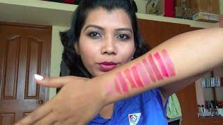 wet n wild megalast lipsticks   swatches on medium skintone