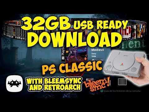Playstation Classic USB Ready Games Download (32gb) from Arcade Man