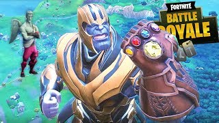 PRIMEIRO JOGO FORTNITE COM VINGADORES!!! THANOS! | Fortnite Battle Royale (NOVO MODO AVENGERS)