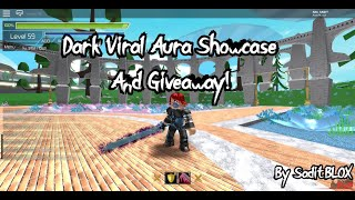 [GiveAway] Dark Viral Aura Showcase and Giveaway! in Roblox SwordBurst 2 (ROBLOX)