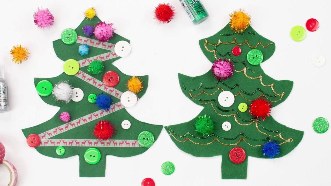 Easy Felt Christmas Tree Kids\' Craft - YouTube