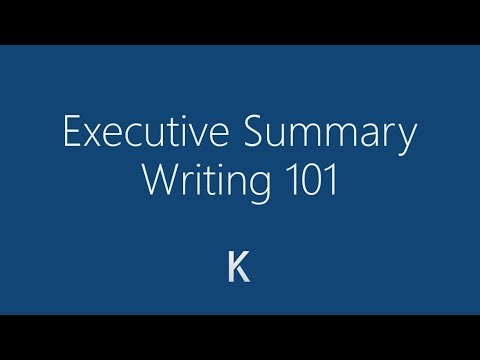 how to write an executive summary detailed tutorial youtube