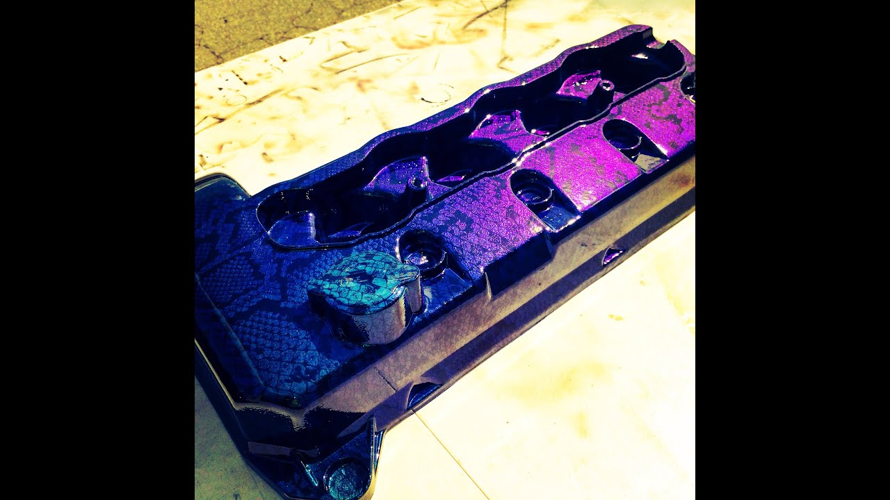 Ford Mustang Valve Covers Hydro Dipped Youtube