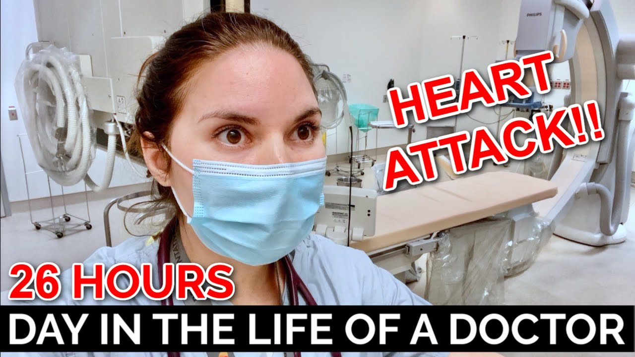 26 HOUR CALL SHIFT: DAY IN THE LIFE OF A DOCTOR (HEART ATTACK!)