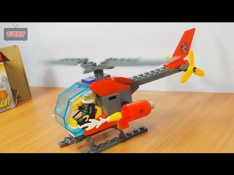 ghép Lego trực thăng cứu hộ và phi công lái máy bay đồ chơi trẻ em