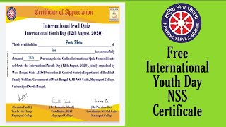 Free Certificate Quiz on INTERNATIONAL YOUTH DAY