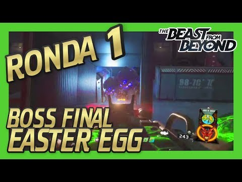 EASTER EGG BOSS FIGHT ROUND 1 THE BEAST FROM BEYOND INFINITE WARFARE ZOMBIES