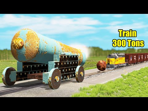 Stop The Train Of 300 Tons - Beamng Drive