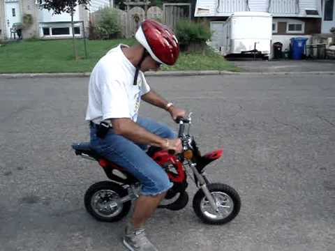 pocket dirt bike 49cc youtube. Black Bedroom Furniture Sets. Home Design Ideas