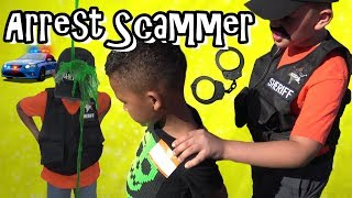 KID SCAMMER GETS CAUGHT BY COPS! SET UP BY KIDS!