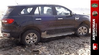 Ford Endeavour 3.2 Titanium 4x4: Stuck at Yamuna Riverbed & Recovery using Isuzu V Cross