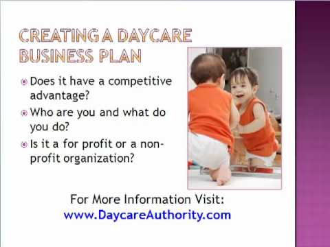 Start A Child Care Business - Daycare Plan - Youtube