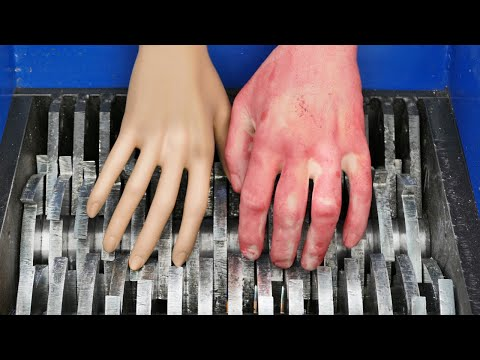 SHREDDING PLASTIC HANDS!