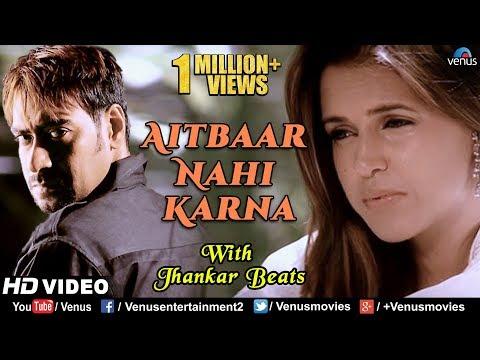 Aitbaar Nahi Karna Jhankar Beats  Ajay Devgan & Neha  Qayamat  90's Bollywood Romantic Songs