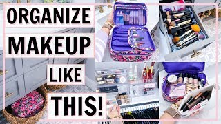 BEST MAKEUP ORGANIZATION IDEAS! HOW I ORGANIZE MY MAKEUP! | Alexandra Beuter
