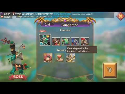 Lords Mobile: Challenge 1-6 Using F2p Free To Play Heroes