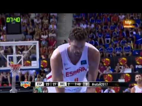 SPAIN vs BELGIUM Friendly Basketball Full Game 09.08.2017