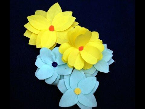 Easy paper flower making craft for children thumbnail